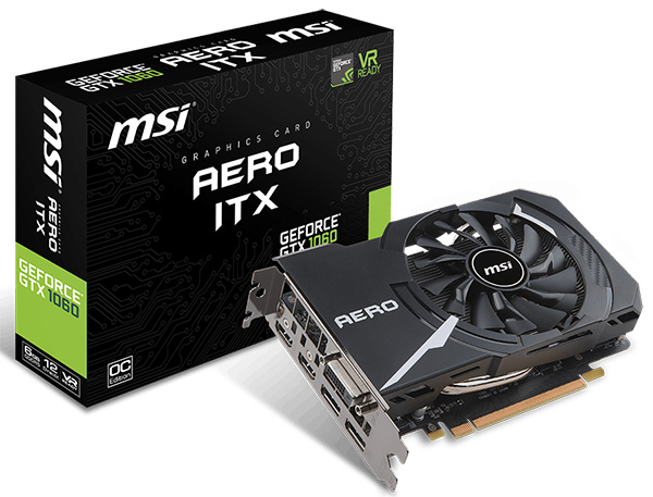 MSI GeForce GTX 1060 6 GB Aero ITX OC