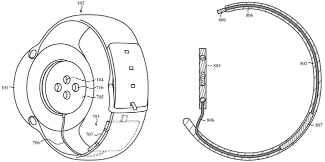 Apple запатентовала внешний аккумулятор для Apple Watch