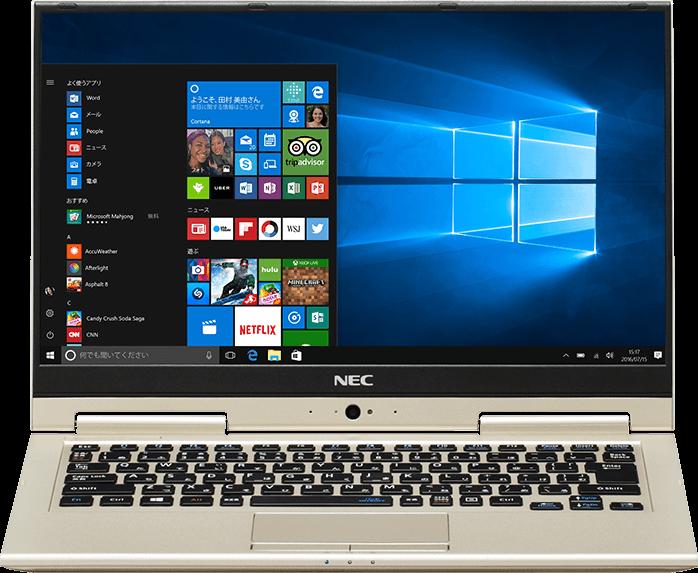 Ноутбук NEC LaVie Hybrid Zero выделяется очень прочным корпусом