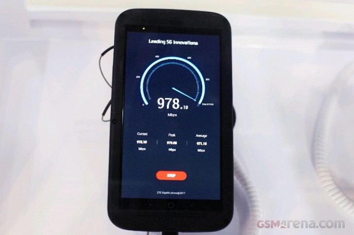 По подсчетам производителя, это первый смартфон, обеспечивающий скорость закачки около 1 Гбит/с