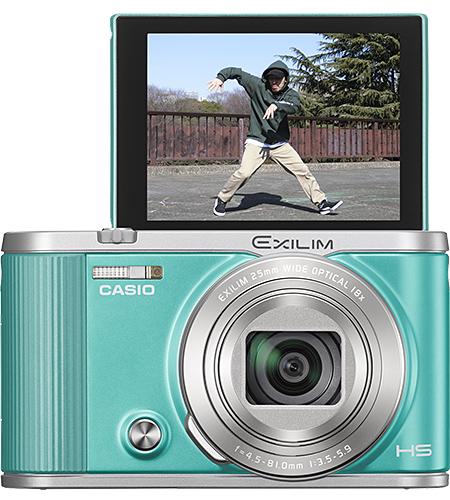 Камера Casio Exilim EX-ZR1800 предложена в золотистом, черном и бирюзовом цветах