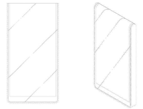 LG запатентовала смартфон, дисплей которого огибает корпус