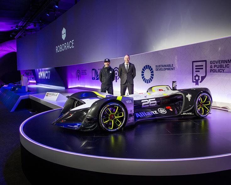 Беспилотный электромобиль Robocar предназначен для гонок