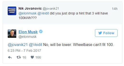 Всамую недорогую Tesla непоместилась батарея на100 кВтч
