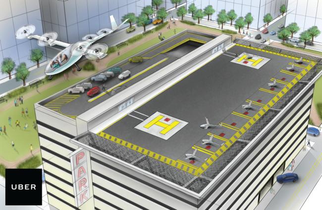 Uber всерьёз принялась засоздание «летающих автомобилей»