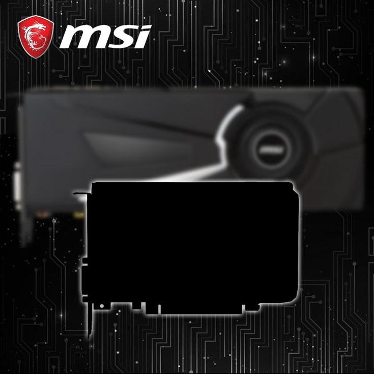 MSI намекает на выпуск укороченной 3D-карты на GPU Nvidia GP104
