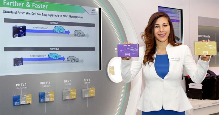 Самсунг презентовала аккумулятор для электрокаров, который позволяет проехать до600км