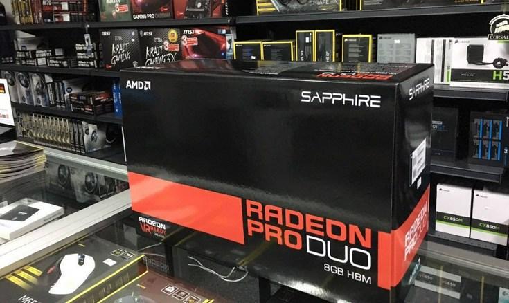 3D-карта Radeon Pro Duo подешевела почти вдвое