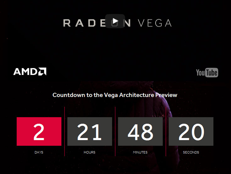 До анонса GPU AMD Vega остается меньше трех суток
