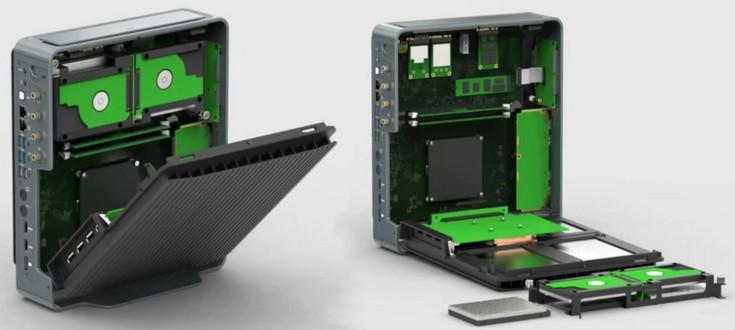 Compulab Airtop вмещает карту GTX 1060 и не имеет ни единого вентилятора