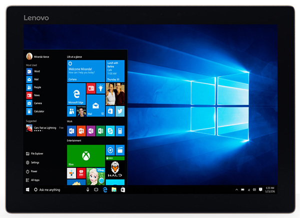 Lenovo анонсировала гибридный планшет MIIX 720