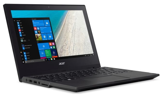 Ноутбук Acer TravelMate Spin B1 не боится небольшого количества воды