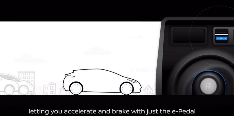 Новым электромобилем Nissan Leaf можно будет управлять, не используя педаль тормоза