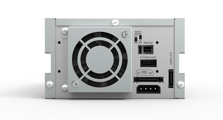 Модуль Raidon InTANK iR2623-S3 занимает два отсека типоразмера 5,25 дюйма