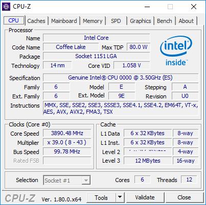 Утилита CPU-Z не смогла определить номер модели