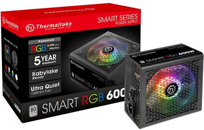 Блоки питания Thermaltake Smart RGB предназначены для систем массового сегмента