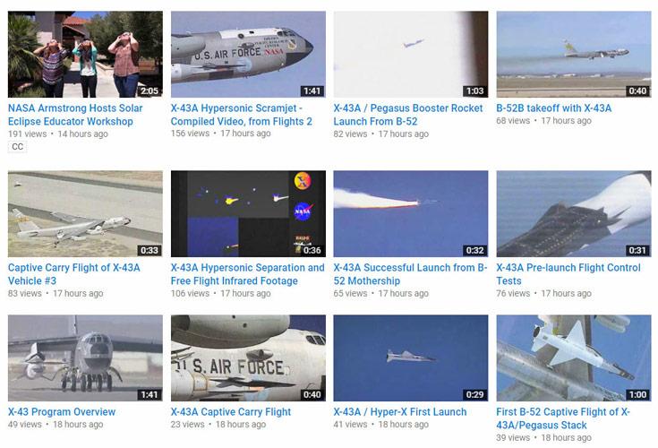 NASA публикует на YouTube архивные пленки