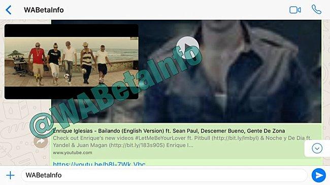 В приложении WhatsApp скоро может появиться поддержка видео YouTube