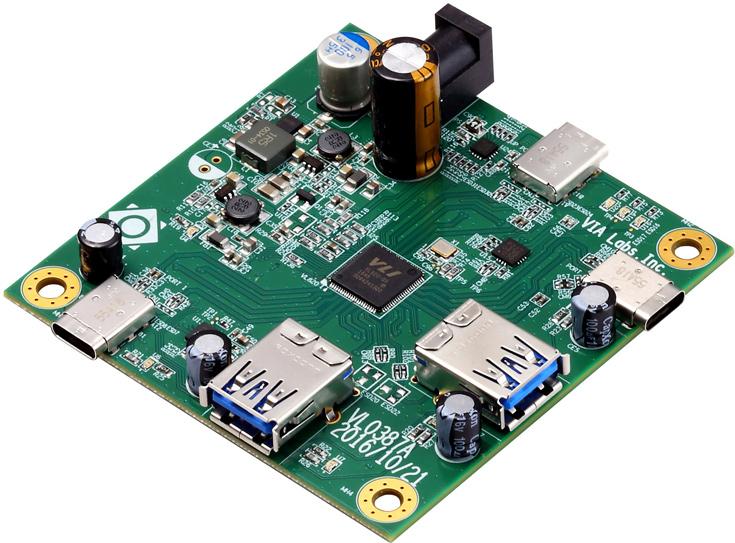Конфигурация VIA Labs VL820 включает один восходящий порт и четыре нисходящих