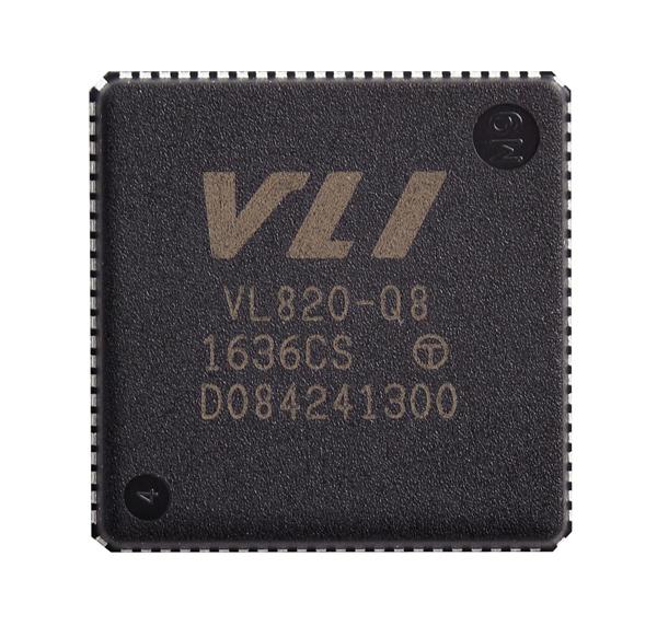 Конфигурация VIA Labs VL820 включает один исходящий порт и четыре нисходящих