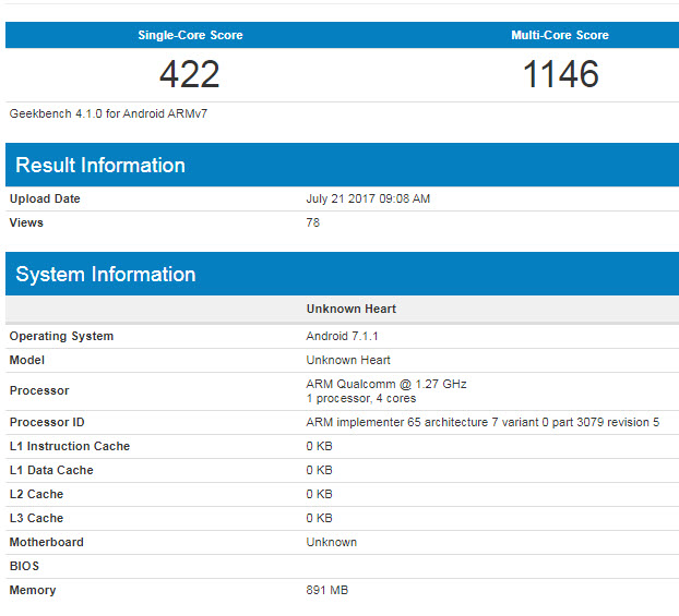 Смартфон Nokia 2 замечен в базе данных Geekbench