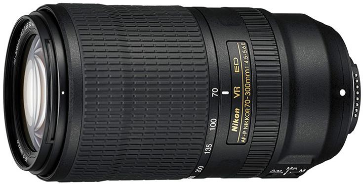 Рекомендованная цена объектива AF-P Nikkor 70-300mm f/4.5-5.6E ED VR равна $700