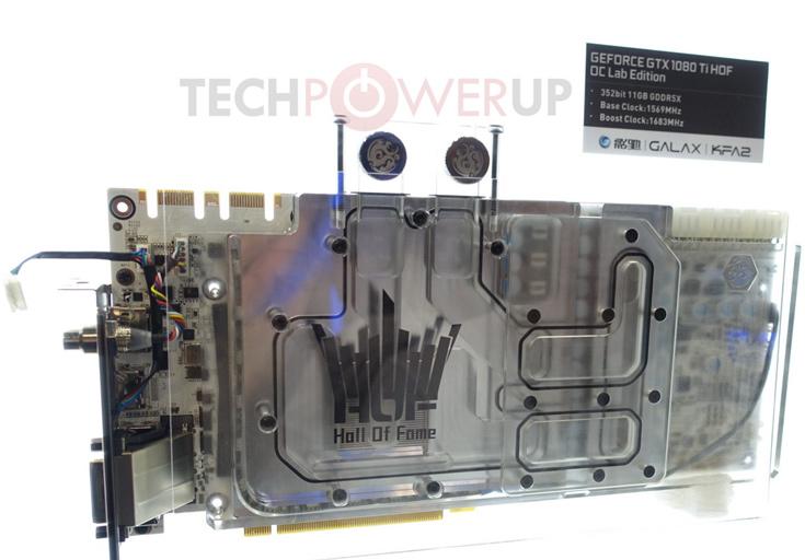 3D-карта Galaxy GTX 1080 Ti HOF OC Lab Edition оснащена водоблоком