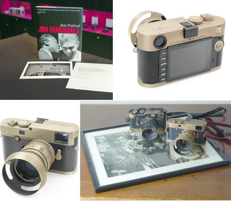 В комплект входит камера Leica M Monochrom, объектив Summilux-M 50 MM F/1.4 ASPH, фотоальбом Jim Marshall: Jazz Festival и фото Телониуса Монка