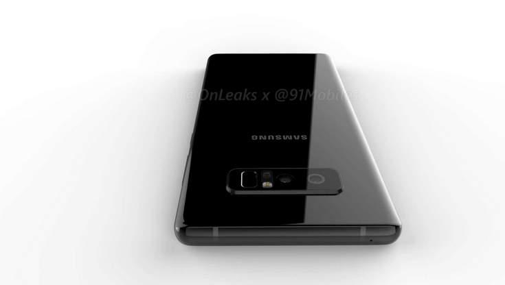 Samsung Galaxy Note8 получит сканер отпечатков пальцев возле сдвоенной камеры