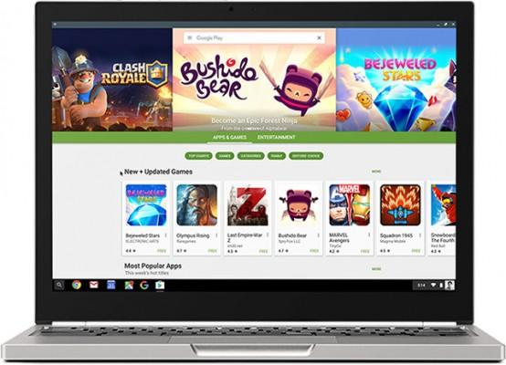 Еще 16 хромбуков получили поддержку Google Play