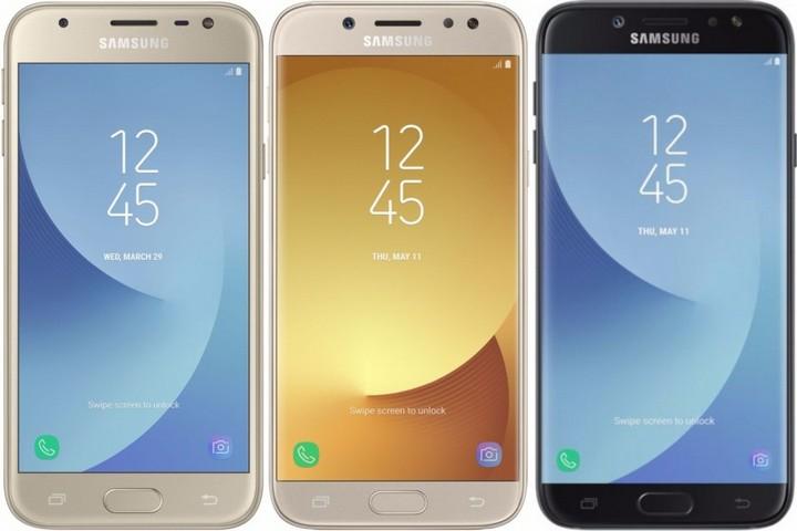 Представлены Samsung Galaxy J3, Galaxy J5 и Galaxy J7 2017 года