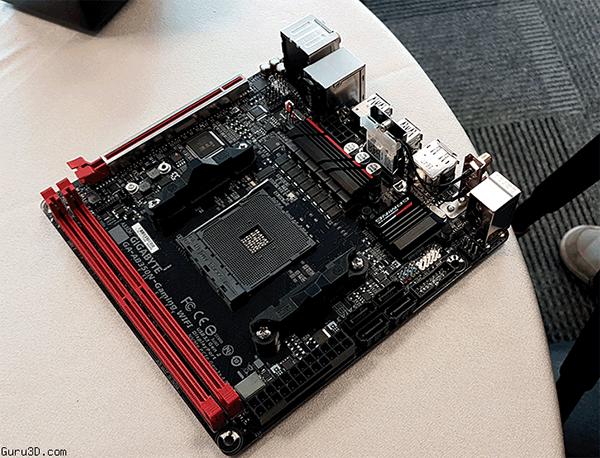 Gigabyte показала системную плату GA-AB350N Gaming WiFi типоразмера Mini-ITX с процессорным гнездом AM4