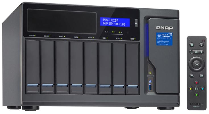 Основой хранилищ QNAP TVS-882BR служит процессоры Intel Core i5 или i7 седьмого поколения