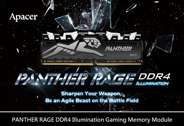 Планки ОЗУ Apacer Panther Rage DDR4 обзавелись подсветкой клыков