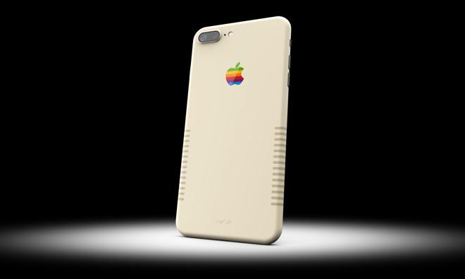 IPhone 7+ Retro изготовлен встиле старых Macintosh