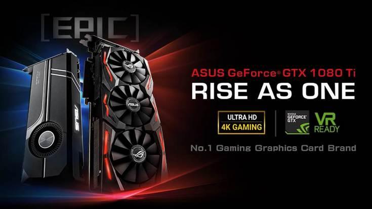 Asus представила две нереференсные видеокарты GeForce GTX 1080 Ti, но не раскрыла их характеристик