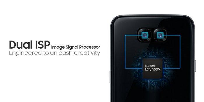 Samsung рекламирует SoC Exynos 8895 изображением смартфона со сдвоенной камерой