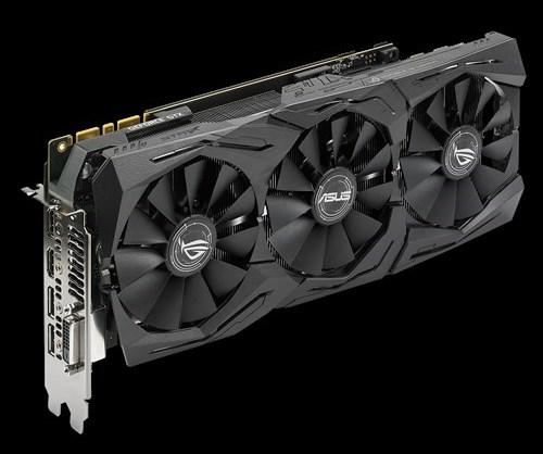 Asus одной из первых представила обновлённые видеокарты GeForce GTX 1080 и GTX 1060 с повышенными частотами памяти