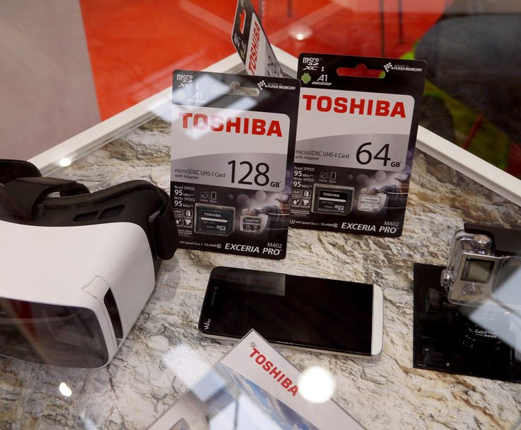 Серия Toshiba Exceria Pro M402 включает карты памяти microSD объемом от 16 до 128 ГБ