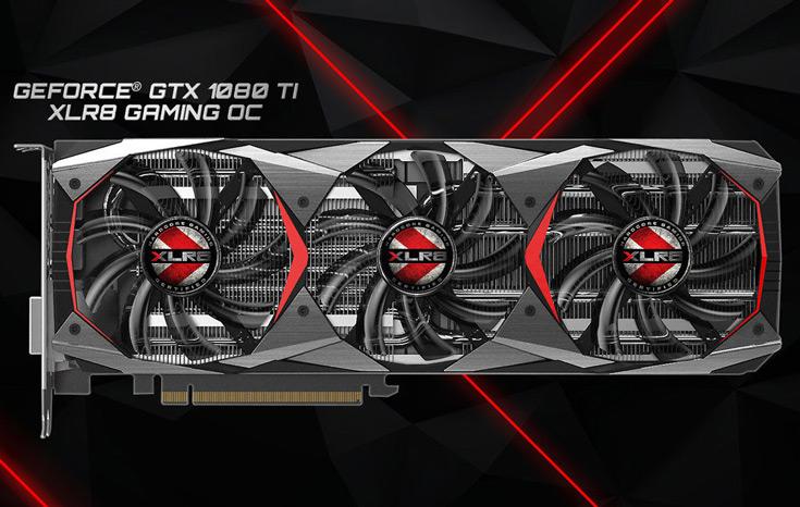 3D-карта PNY GeForce GTX 1080 Ti XLR8 Gaming OC разогнана производителем