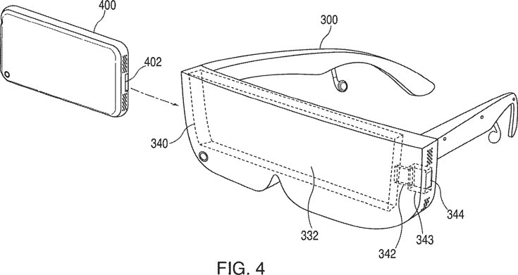 Apple выдан патент на гарнитуру, в которой используется дисплей смартфона