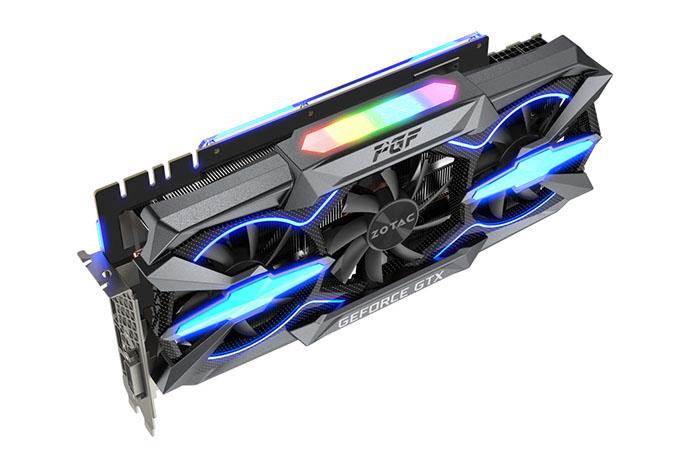 3D-карта Zotac GeForce GTX 1080 Ti PGF оснащена двумя восьмиконтактными разъемами дополнительного питания