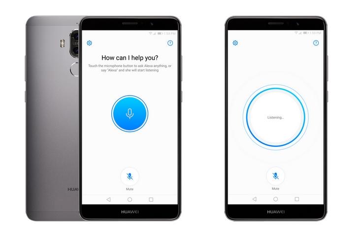 Новое обновление ПО приносит смартфону Huawei Mate 9 поддержку голосового помощника Alexa