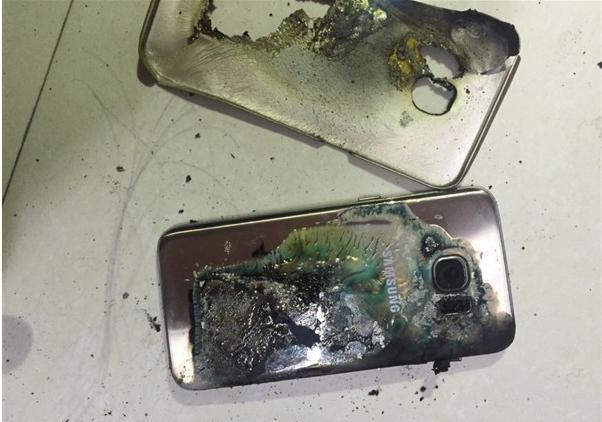 В Китае взорвался еще один смартфон Samsung Galaxy S7