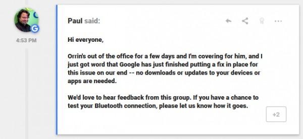 Производитель исправил работу Bluetooth в смартфонах Google Pixel