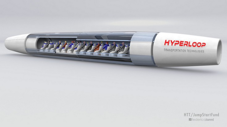 Компания HTT приступила ксборке первой пассажирской капсулы Hyperloop