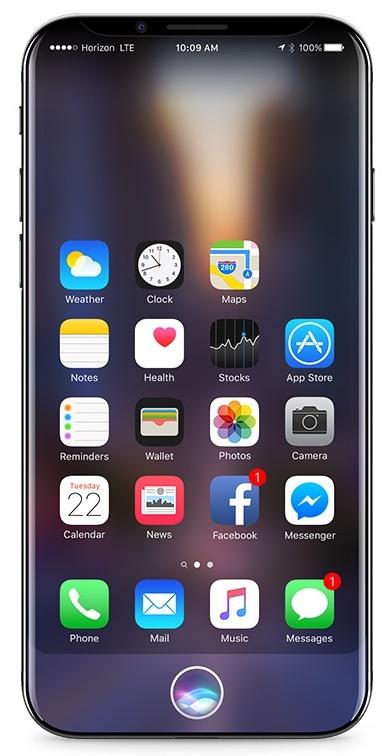 По новым данным, дисплей iPhone 8 будет иметь изгиб, но не такой сильный, как у смартфона samsung Galaxy S7 Edge