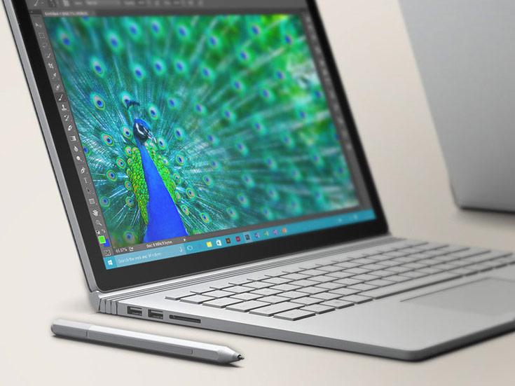 Ноутбук Surface Book нового поколения получил дисплей размером 13,5 дюйма по диагонали