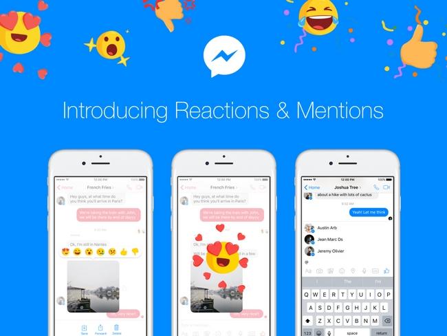 В приложение Facebook Messenger добавлены «реакции»