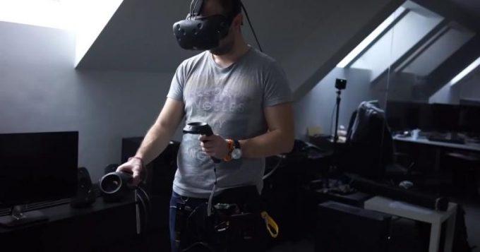 Quark VR - прототип беспроводной гарнитуры виртуальной реальности HTC Vive